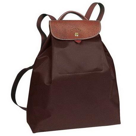 Longchamp Backpack Le Pliage Chocolate