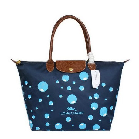 Longchamp Bańka Torby Niebieski