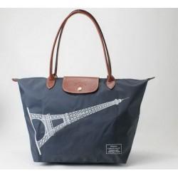 Longchamp Eiffelova věžová taška Grafitová modrá