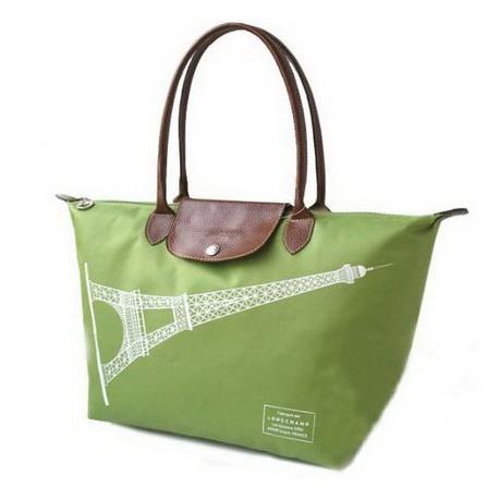 Longchamp Eiffelova věžová taška zelená