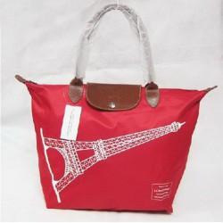 Longchamp Eiffelova věžová taška světle červená