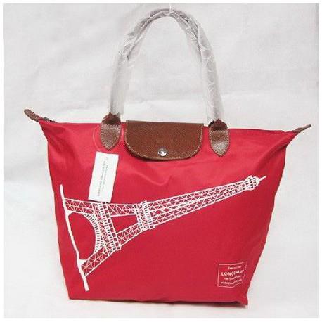 Torby na torby Wieża Eiffla Longchamp Light Czerwony