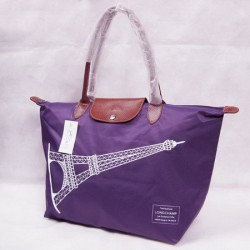 Longchamp Eiffelturm Taschen Lila