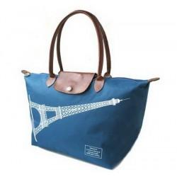 Longchamp Eiffelova věž Brilantní modré tašky