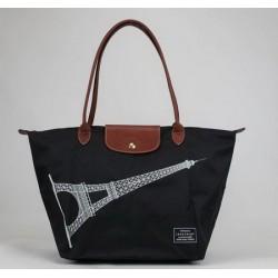 Torby na torby Wieża Eiffla Longchamp czarne