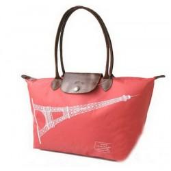 Longchamp Eiffelova věž kabelky červená