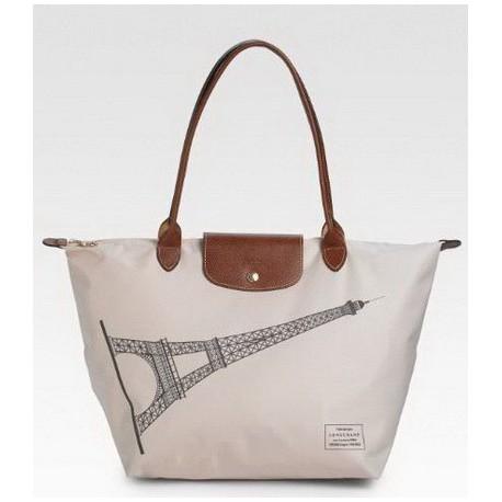 Longchamp Wieża Eiffla Dźwigać Biały