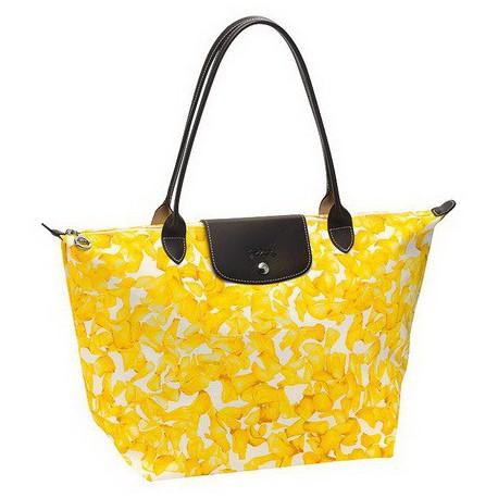 Longchamp Darshan Dźwigać Torby Żółty