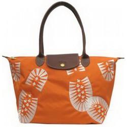 Longchamp Fußabdruck Stempel Taschen Orange