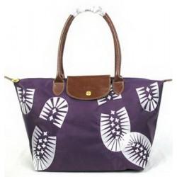 Longchamp Fußabdruck Stempel Taschen Lila