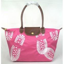 Longchamp Stopa vytisknout růžová taška červená