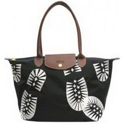 Longchamp Fußabdruck Stempel Taschen Schwarz
