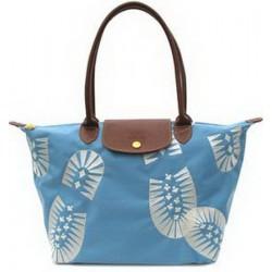 Longchamp Fußabdruck Stempel Taschen Blau