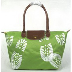 Longchamp Fußabdruck Stempel Taschen Grün