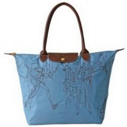 Longchamp Bestickte Taschen Blau
