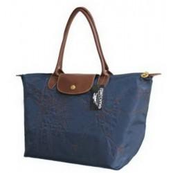 Longchamp Bestickte Taschen Tief Blau
