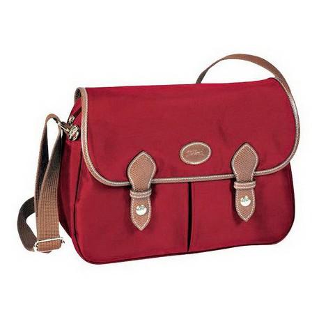 Longchamp Le Pliage Posłaniec Portmonetka Czerwony