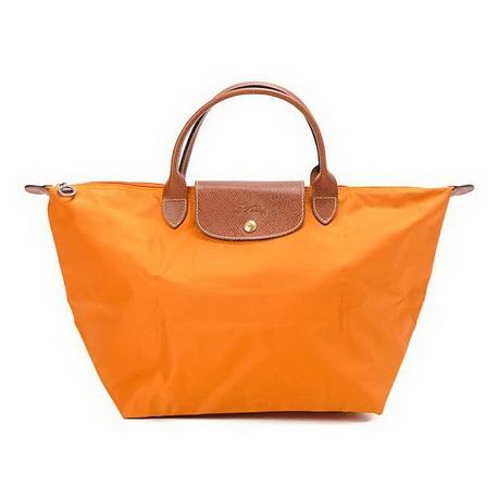 Longchamp Le Pliage Dźwigać Torby Mandarine Wylot