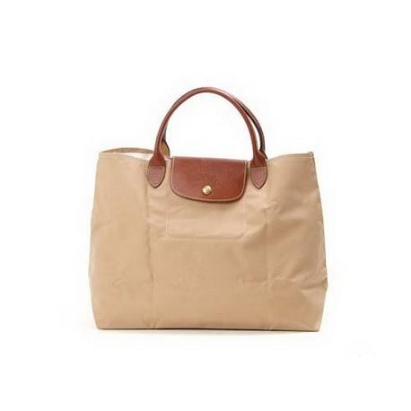 Longchamp Le Pliage Tote Bags Beige moye Outlet Sale