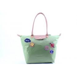 Longchamp - Le Pliage Liebe - Einkaufstasche Grün