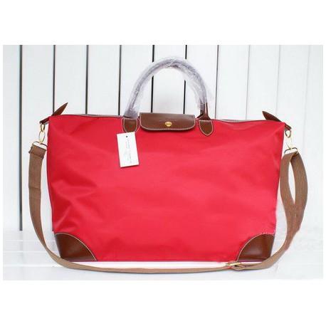 Cestovní tašky Longchamp Le Pliage červené