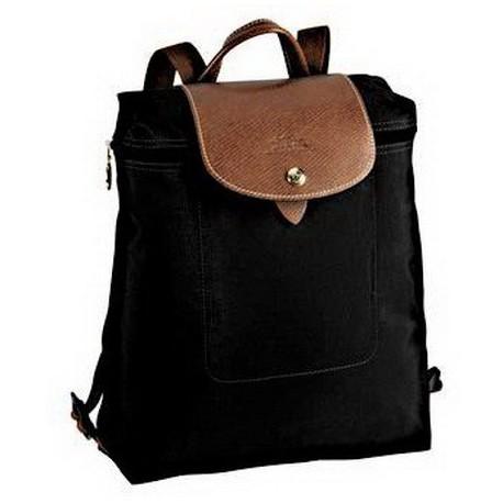 Longchamp Le Pliage Zippered Backpack Bags Black