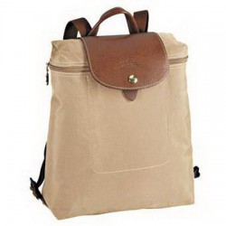 Longchamp Le Pliage Reißverschluss-Rucksack Beige