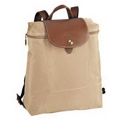 Plecak zapinany na zamek Longchamp Le Pliage Beżowy