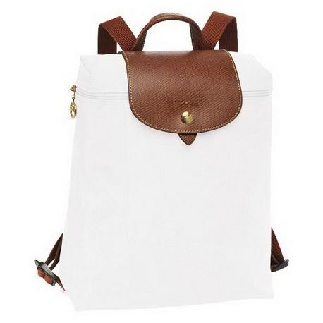 Plecak zapinany na zamek Longchamp Le Pliage Biały