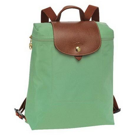 Plecak zapinany na zamek Longchamp Le Pliage Palm Zielony