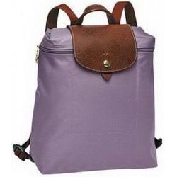 Plecak zapinany na zamek Longchamp Le Pliage Mauve