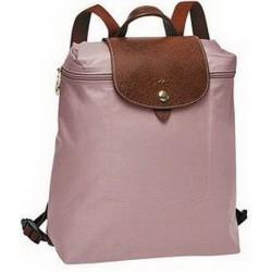 Plecak zapinany na zamek Longchamp Le Pliage Różowy