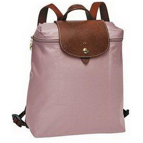 Longchamp Le Pliage Batoh se zipem růžový