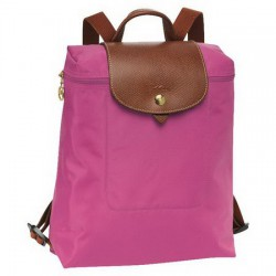 Plecak zapinany na zamek Longchamp Le Pliage Fuchsia