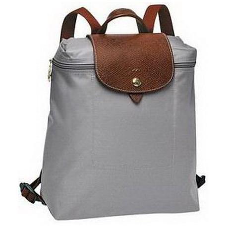 Longchamp Le Pliage Reißverschluss-Rucksack Grau