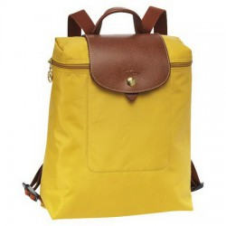 Longchamp Le Pliage Reißverschluss-Rucksack Gelb
