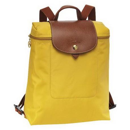 Plecak zapinany na zamek Longchamp Le Pliage Żółty