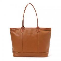Skórzane torby na ramię Longchamp Cognac