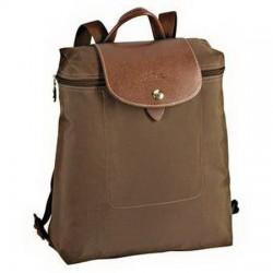 Longchamp Le Pliage - Rucksack mit Reißverschluss, Taupe