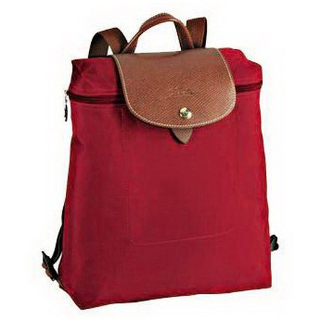 Plecak zapinany na zamek Longchamp Le Pliage Czerwony