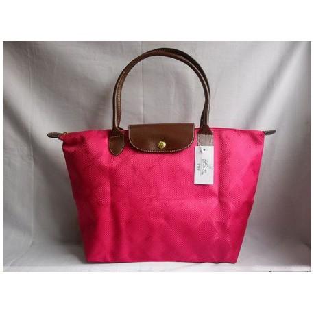 Żakardowe torby Longchamp Fuchsia