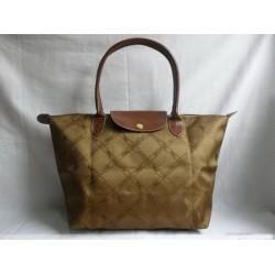 Longchamp Jacquard Bags Light Coffee