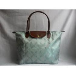 Longchamp Jacquard Handtaschen Aqua Blau
