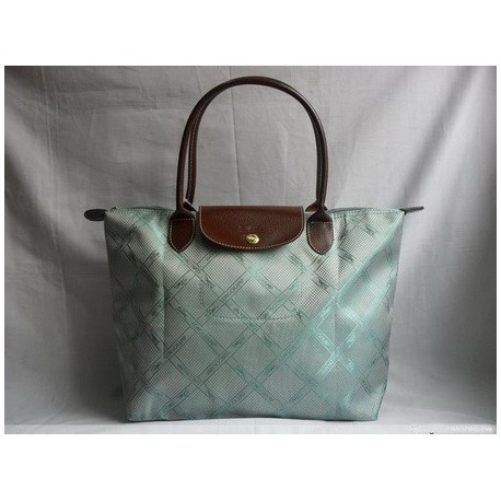 Longchamp Żakardowe torebki Aqua Niebieski