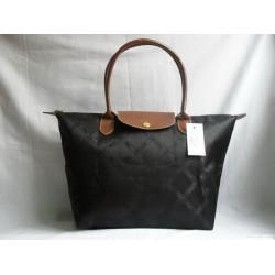 Longchamp Żakard Dźwigać Czarny