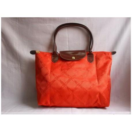 Torby żakardowe Longchamp pomarańczowe