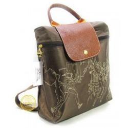 32bd13c170 Vyšívaný batoh Longchamp Hluboký Hnědý