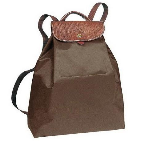 Torby plecakowe Longchamp Le Pliage Taupe