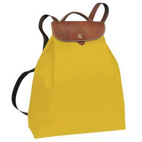 Plecak Longchamp Le Pliage Żółty